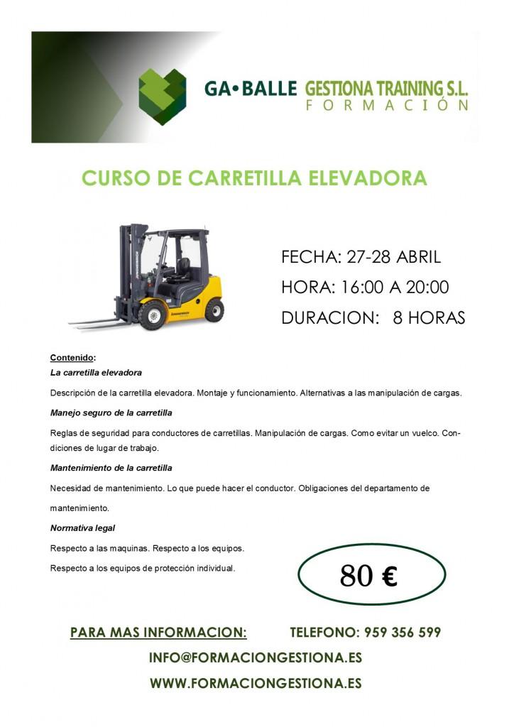 CURSO DE CARRETILLA ELEVADORA
